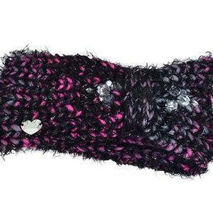 Betsey Johnson Cinched Headband Black & Pink New